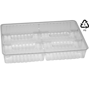 Cannoli 6 compartment 572 tray